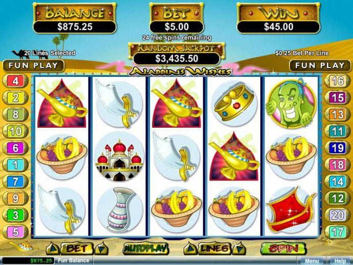 No Deposit Casino Guide image of Aladdin's Wishes