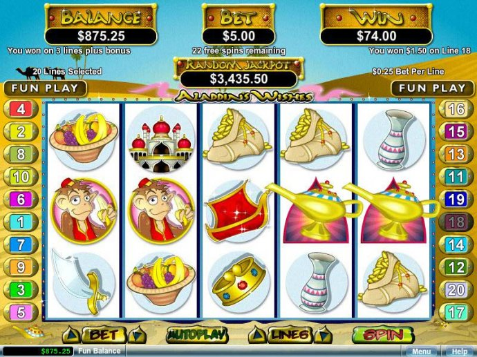 Aladdin's Wishes by No Deposit Casino Guide