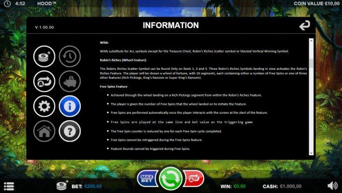 No Deposit Casino Guide image of Hood