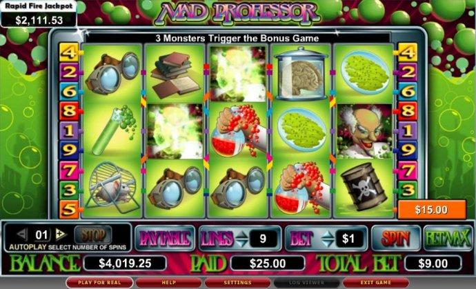 No Deposit Casino Guide image of Mad Professor