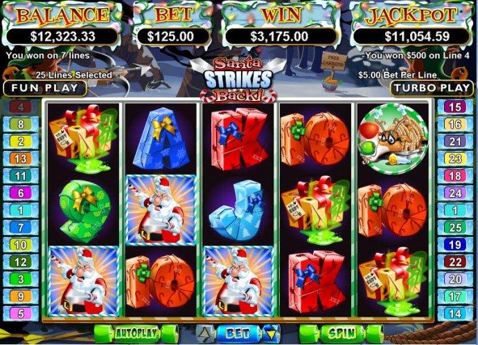 No Deposit Casino Guide image of Santa Strikes Back
