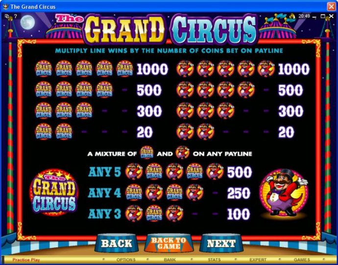 No Deposit Casino Guide image of The Grand Circus