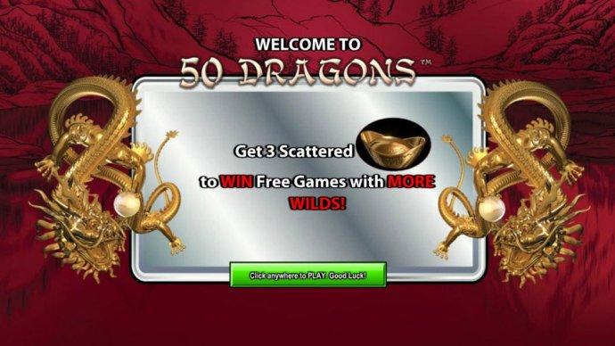 Welcome splash screen by No Deposit Casino Guide
