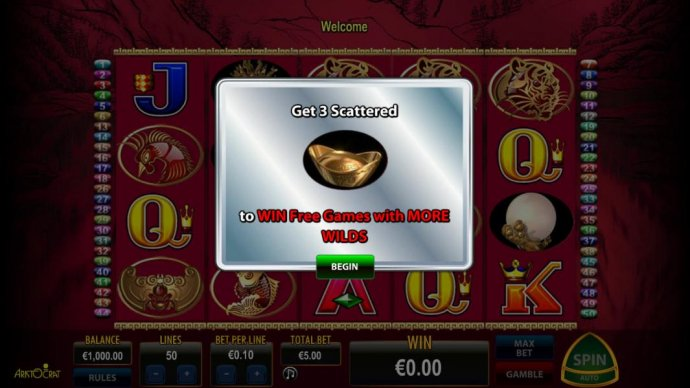 No Deposit Casino Guide - Get three scatter symbol or more to win free game with more wilds