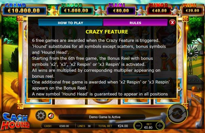No Deposit Casino Guide - Crazy Feature Rules