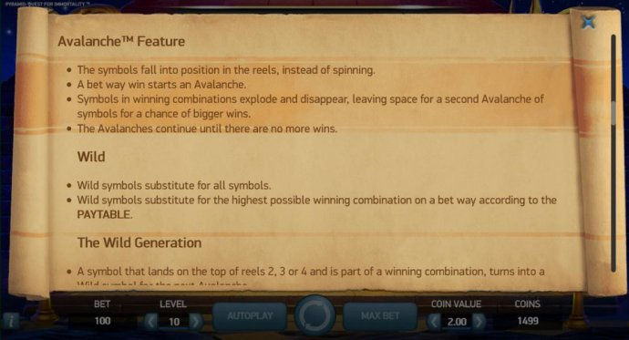 Pyramid Quest for Immortality by No Deposit Casino Guide