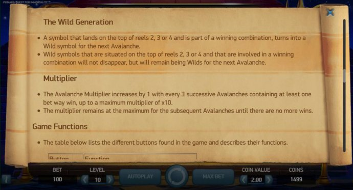 The Wild Generation game rules and Multiplier rules - No Deposit Casino Guide