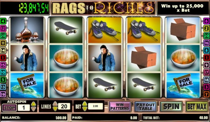 Images of Rags to Riches 20 line