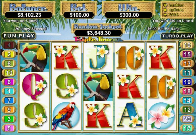 No Deposit Casino Guide image of Triple Toucan