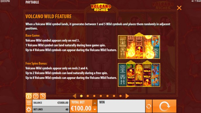 Volcano Wild Feature by No Deposit Casino Guide