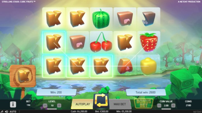 Strolling Staxx Cubic Fruits screenshot