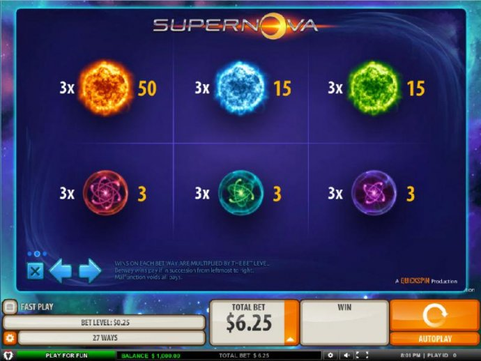 No Deposit Casino Guide image of Supernova