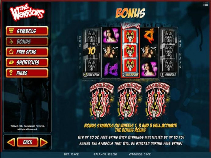 No Deposit Casino Guide image of The Warriors