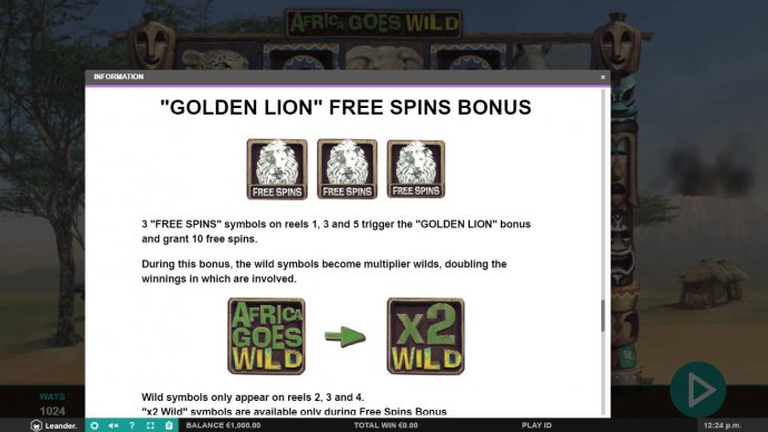 No Deposit Casino Guide image of Africa Goes Wild