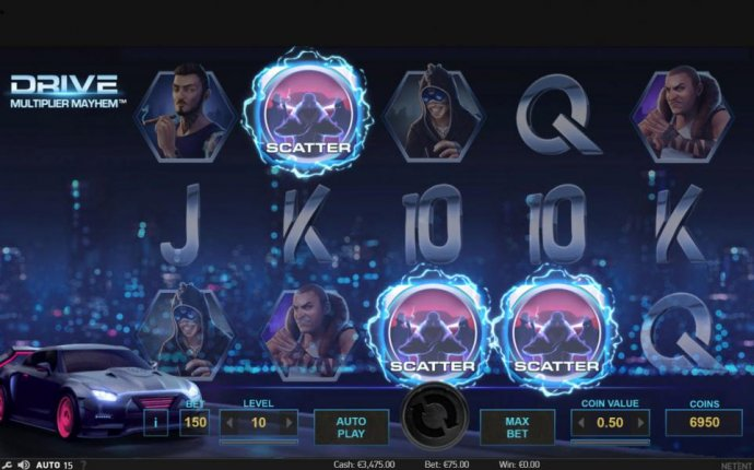 Three scatter symbols activate 10 free spins. by No Deposit Casino Guide