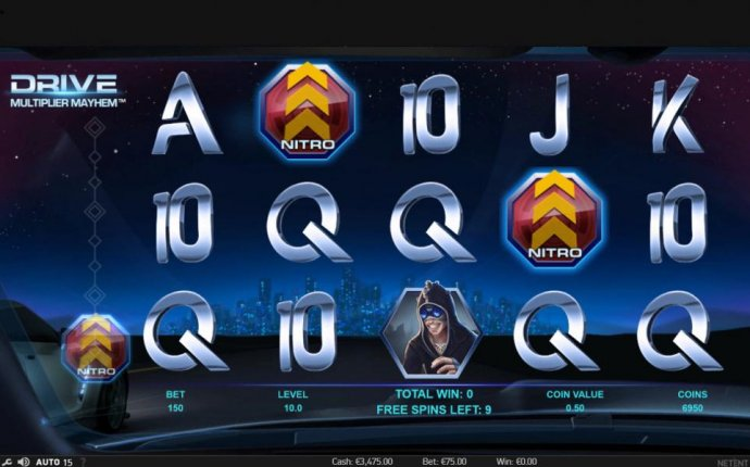 Collect Nitro symbols during free spins to win more free spins and random wild multiplier overlay. by No Deposit Casino Guide