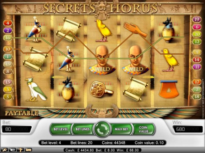 two wild symbols lead to 680 coin jackpot payout by No Deposit Casino Guide