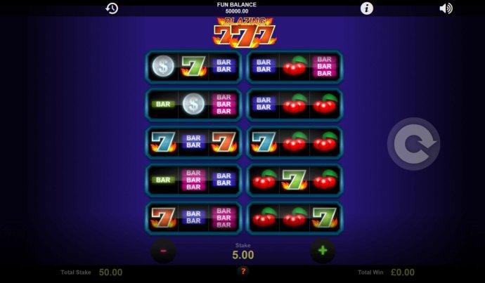 No Deposit Casino Guide image of Blazing Sevens