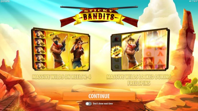 Sticky Bandits by No Deposit Casino Guide