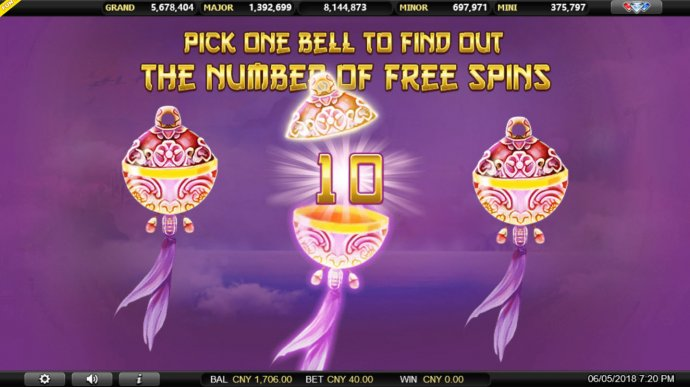 No Deposit Casino Guide - Pick a bell to reveal a prize