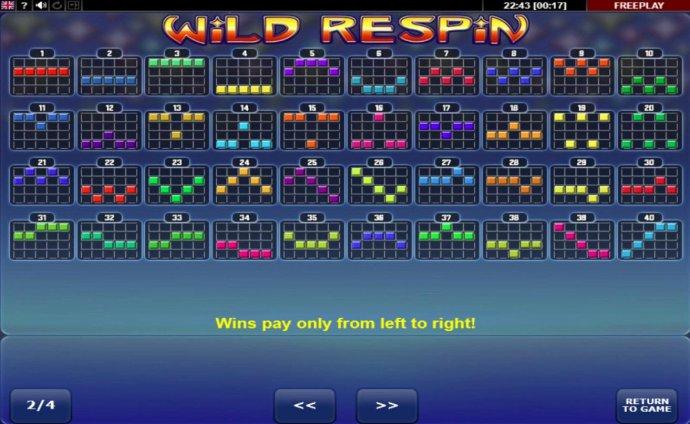 Paylines 1-40 - No Deposit Casino Guide