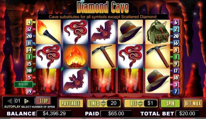 No Deposit Casino Guide image of Diamond Cave