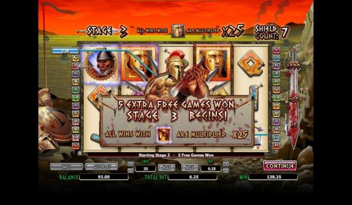 5 extra free games won stage 3 begins - No Deposit Casino Guide