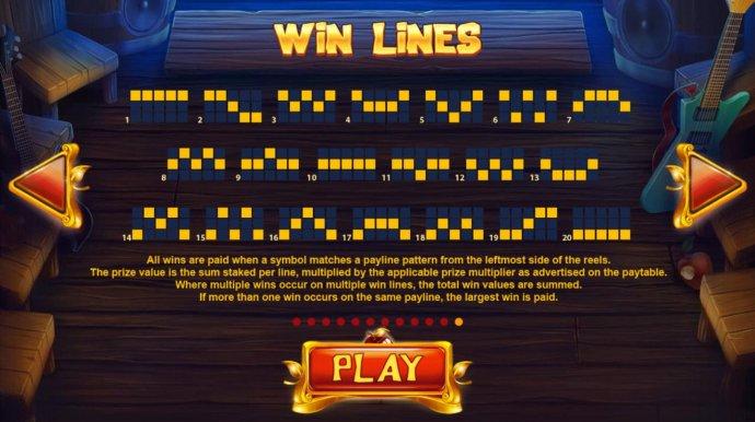 Paylines 1-20 - No Deposit Casino Guide