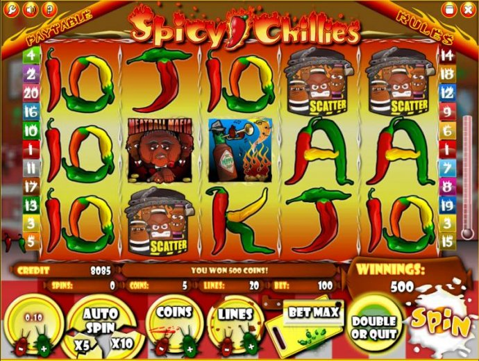 Spicy Chillies by No Deposit Casino Guide