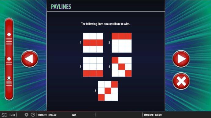 No Deposit Casino Guide - Paylines 1-5