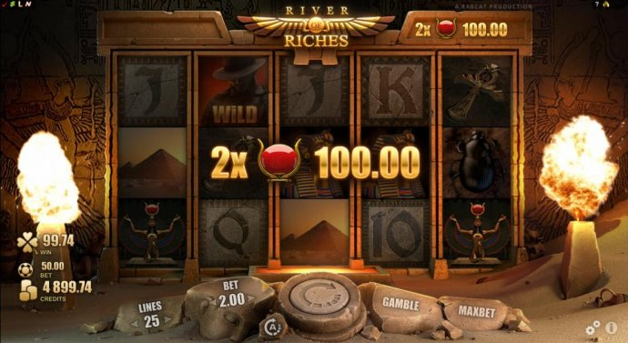 Two free spin symbols triggers a 100.00 payout. - No Deposit Casino Guide