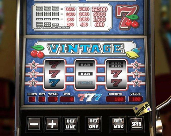 No Deposit Casino Guide image of Vintage