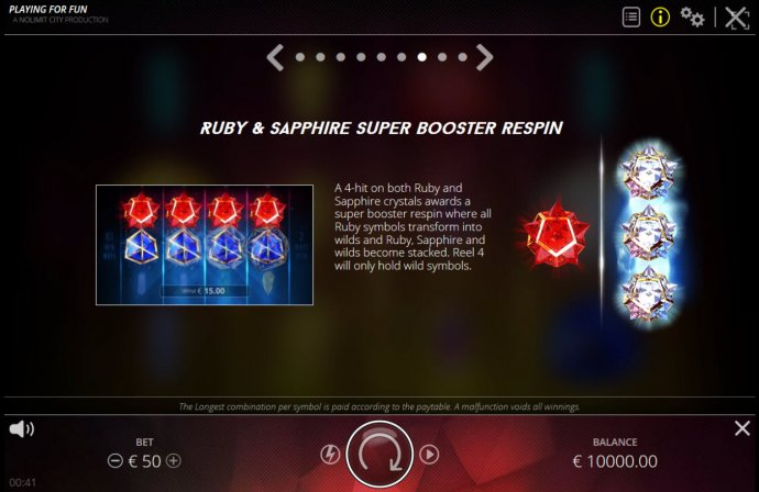 Ruby and Sapphire Booster Respin - No Deposit Casino Guide
