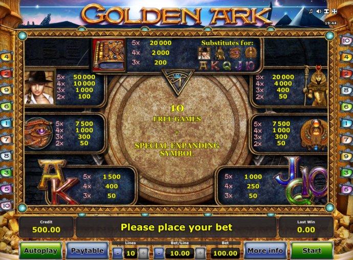 No Deposit Casino Guide image of Golden Ark