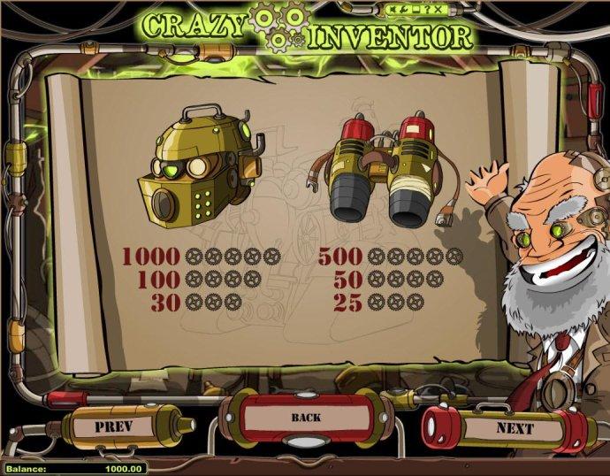 Medium Value Slot Game  Symbols Paytable. - No Deposit Casino Guide