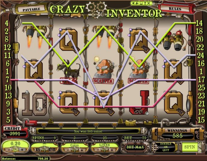 Crazy Inventor by No Deposit Casino Guide