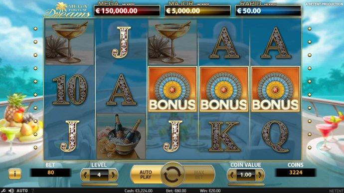 Scatter symbols triggers bonus feature by No Deposit Casino Guide
