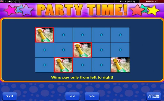 No Deposit Casino Guide image of Party Time
