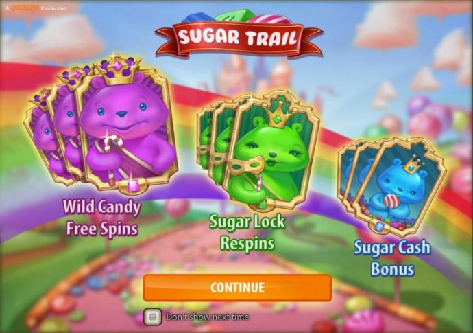 No Deposit Casino Guide - features include wild candy free spins, sugar lock respins and sugar cash bonus