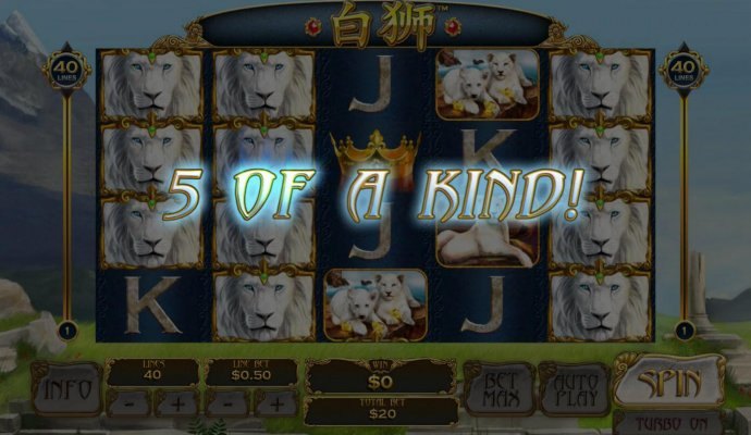 A winning Five of a Kind. by No Deposit Casino Guide