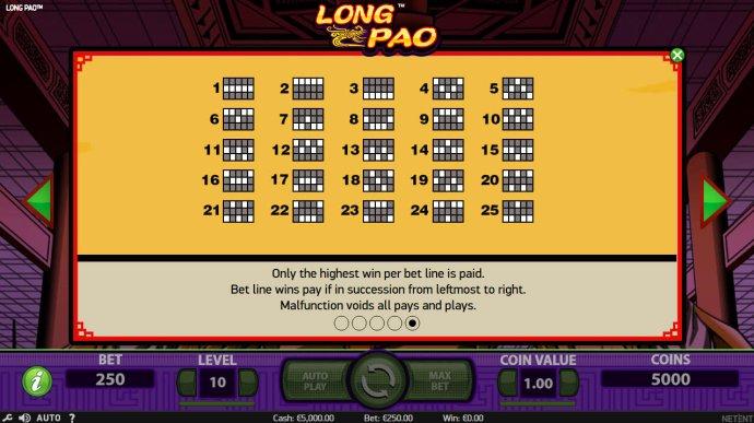 No Deposit Casino Guide - Paylines 1-25