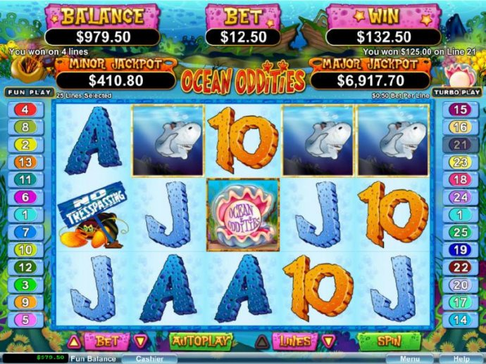 No Deposit Casino Guide - Multilple winning paylines triggers a $132 jackpot win.