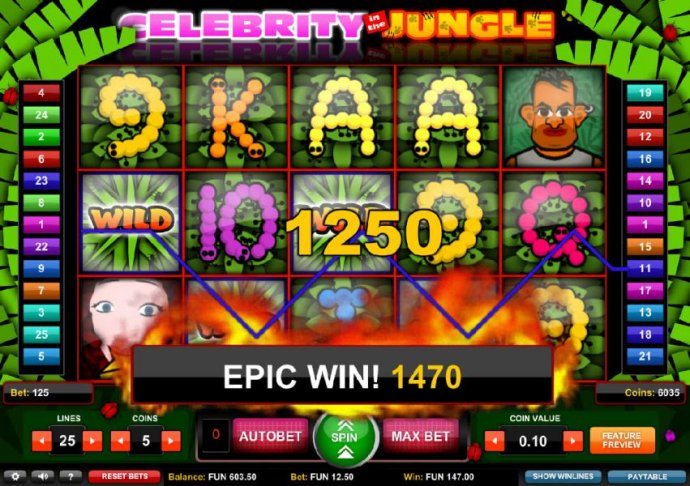 Celebrity in the Jungle by No Deposit Casino Guide