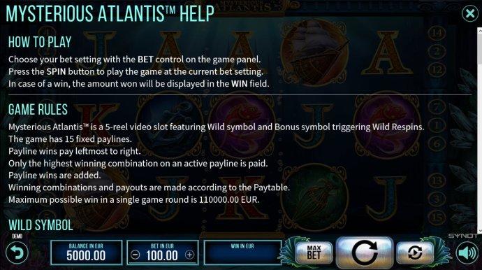 Mysterious Atlantis by No Deposit Casino Guide