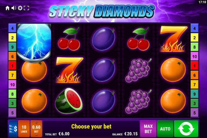 No Deposit Casino Guide image of Sticky Diamonds