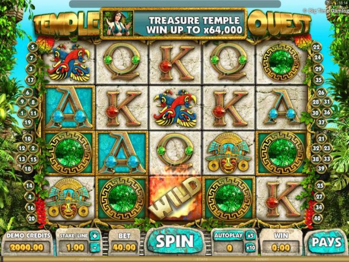 No Deposit Casino Guide image of Temple Quest
