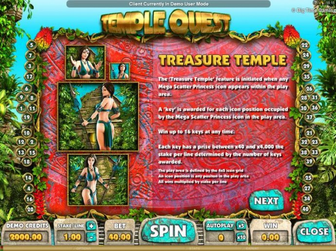 Temple Quest by No Deposit Casino Guide