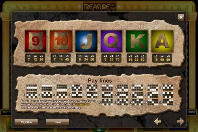 Treasure of the Pyramids screenshot