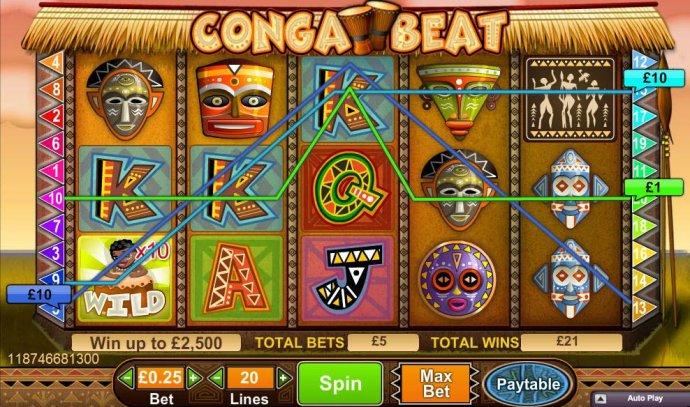 No Deposit Casino Guide image of Conga Beat