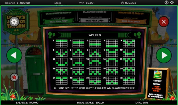 No Deposit Casino Guide - Paylines 1-30